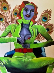 """The Dreamcatcher,"" acrylic on canvas."