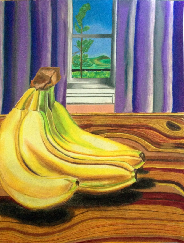 """""""The Fruit Cluster,"""" colored pencil on paper. 9"""" x 12""""."""