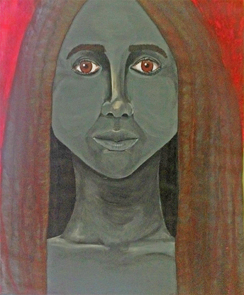"""""""The First Time Ever I Saw Your Face,"""" acrylic on drawing paper. 14"""" x 17""""."""