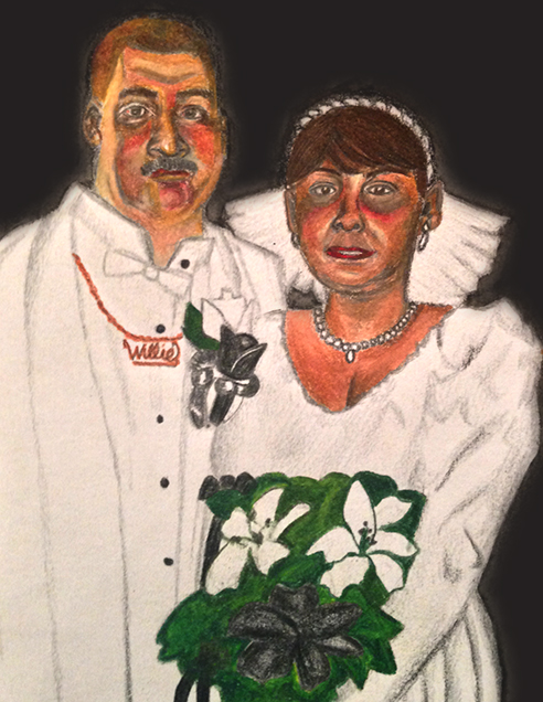 """""""Forever,"""" colored pencil on paper. 5"""" x 7""""."""