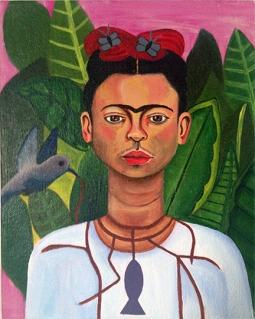 """""""Kahlo,"""" acrylic on canvas. 8"""" x 10""""."""