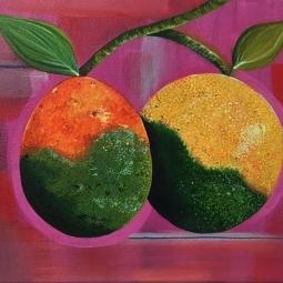 """Citrus Greening,"" acrylic on canvas."
