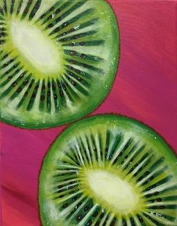 """""""Keawea,"""" acrylic on canvas."""