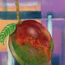 """Mango Abstraction,"" acrylic on canvas."