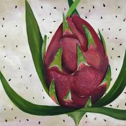 """Pitaya,"" acrylic on canvas."