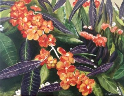 """Botanica"" 10"" x 12"" acrylic on canvas."